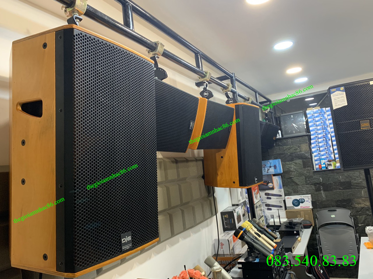 LOA DJG J12 – SPEAKER karaoke cao cấp 3 tấc