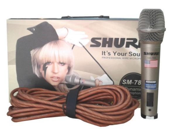 Shure SM78A Micro có dây cao cấp