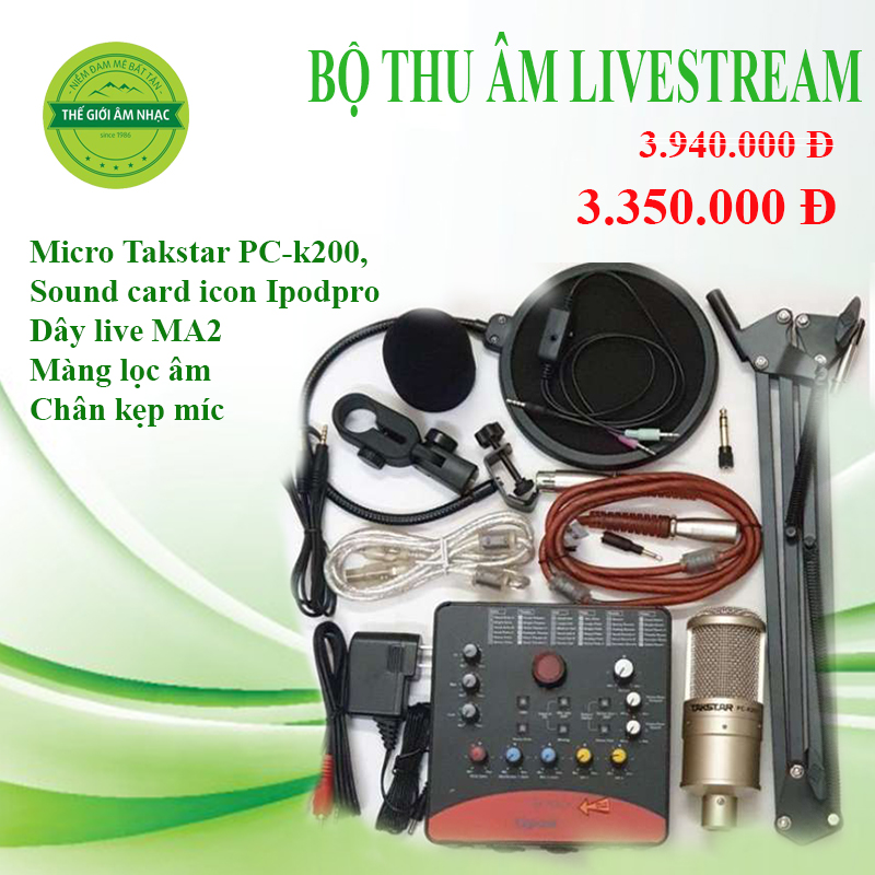 Bộ live stream Takstar PC K200