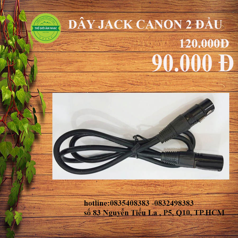 DÂY JACK CANON 2 ĐẦU