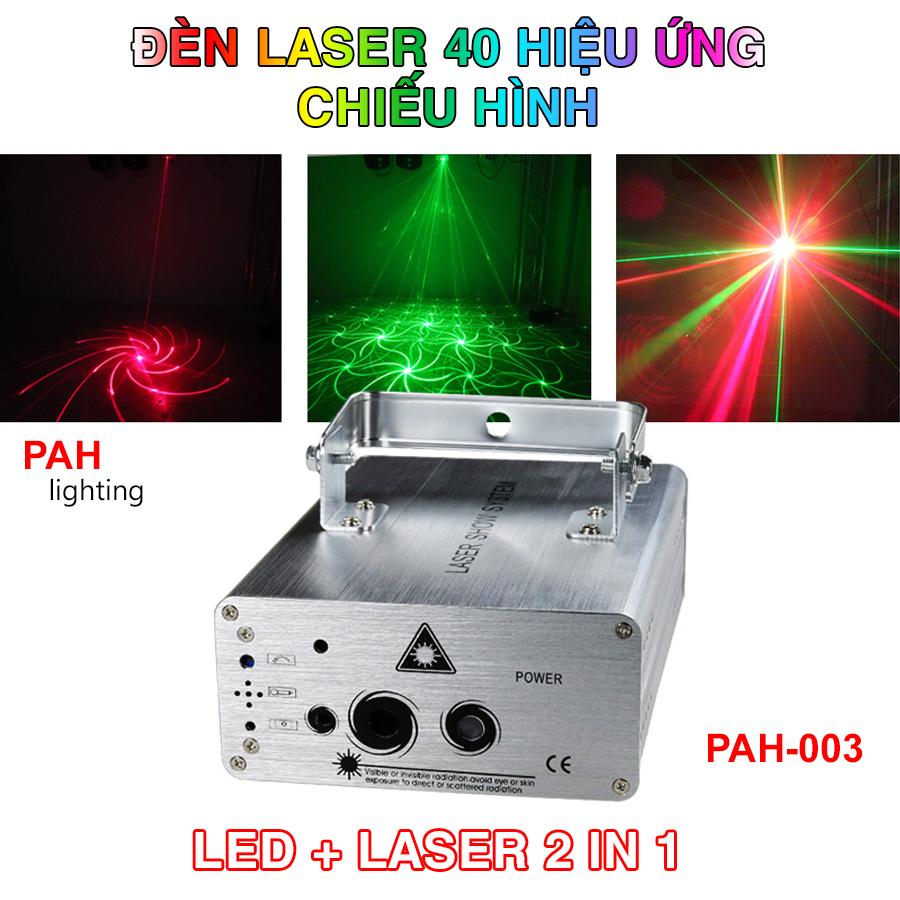 PAH-003 Đèn laser chiếu 40 hình xoay siêu ảo 3D