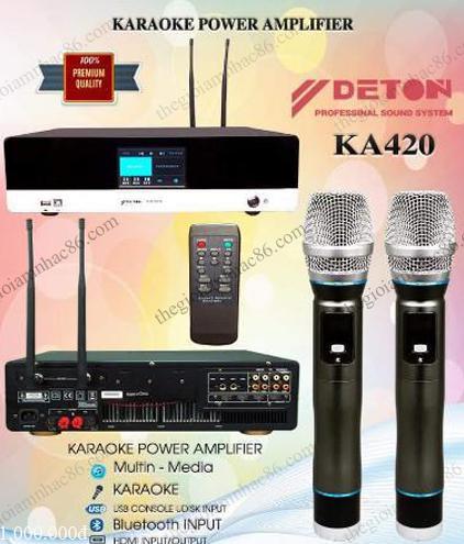 DETON KA420 – Đẩy liền vang kèm micro tiện dụng